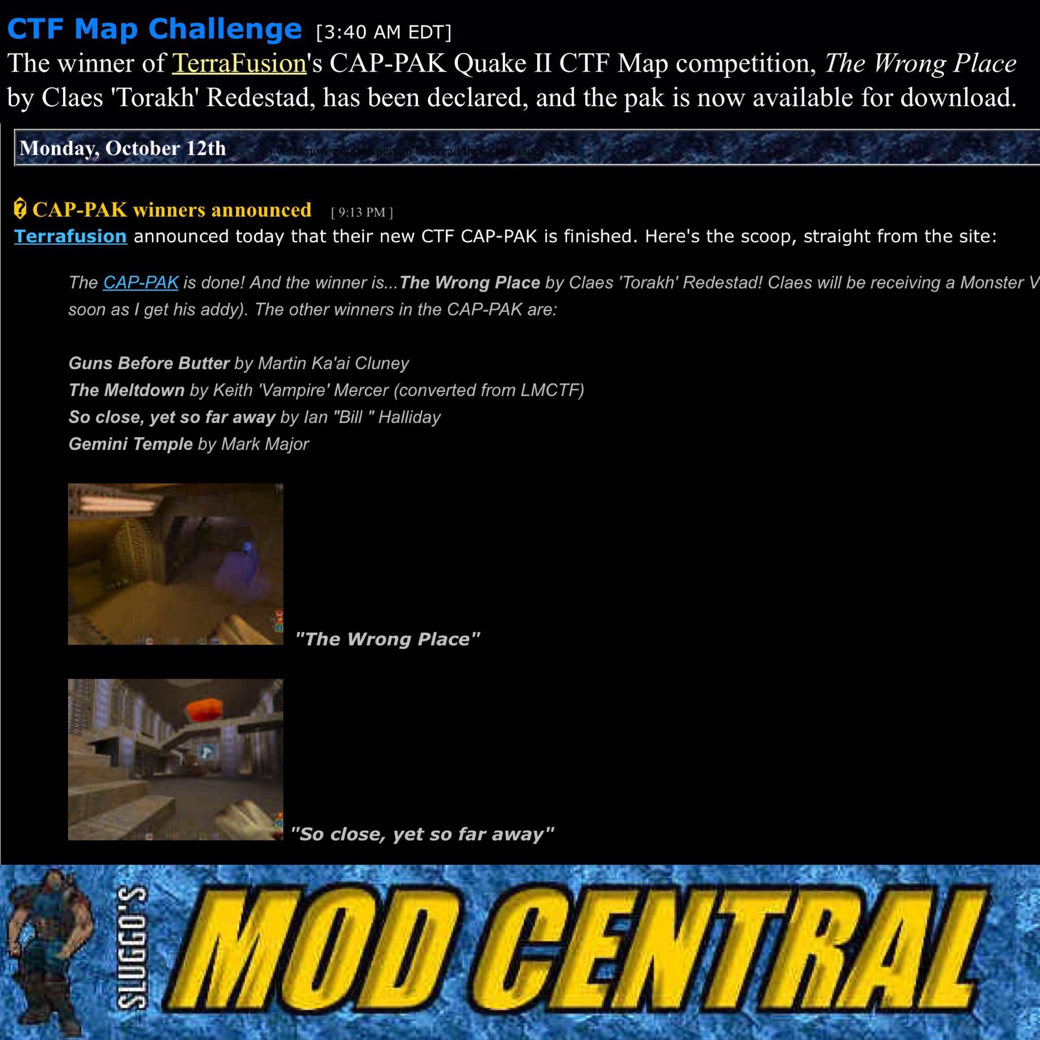 Terrafusion's Cap Pak (cappak zip) more #Quake2 #Q2CTF maps gone