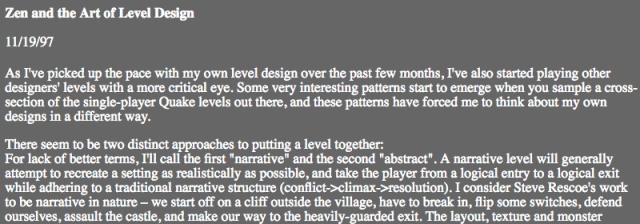 Zen and the Art of Level Design – Donde Quake 2