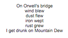 monkey poem 3