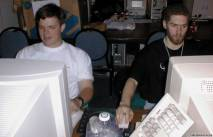 Sage and Bone Displacer playing Quake 2