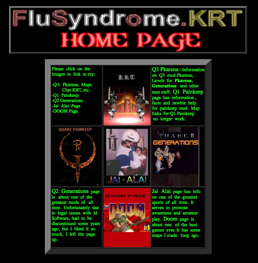 FluSyndrome KRT and HiFever: Quake II Generations, Quake