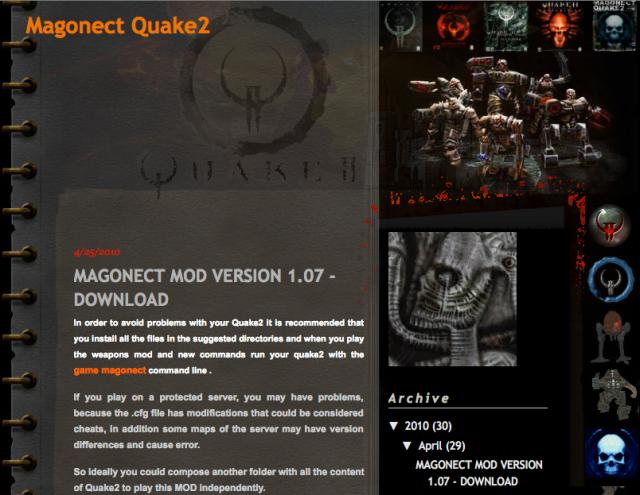 Magonect Mod, Skins, Models, Maps, Sounds, Clans: Quake 2, Brazil