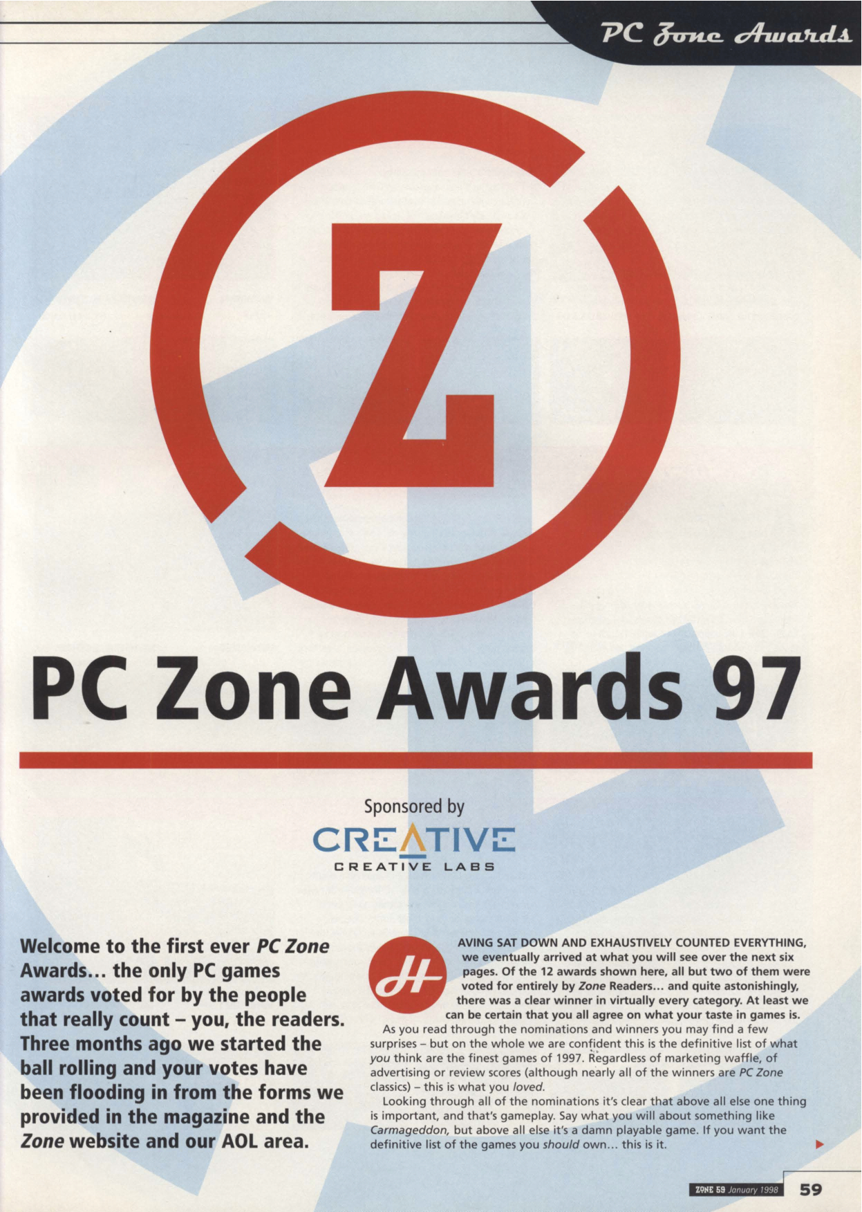 PC Zone 59, January 1998: Quake II Review, by David