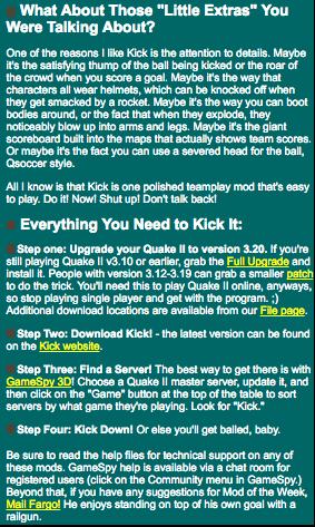 Quake 2 Kick Mod by Doyoon Kim – Donde Quake 2