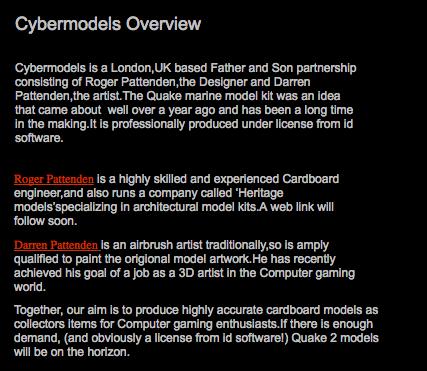 Cybermodels: Quake Marine 3D Card Model Kit – Donde Quake 2